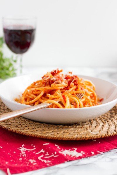 haseimglueck.de Rezept, Bucatini all' Amatriciana 7