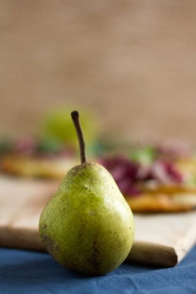 haseimglueck.de Rezept, Mini Pizza mit Birnen & Gorgonzola 2