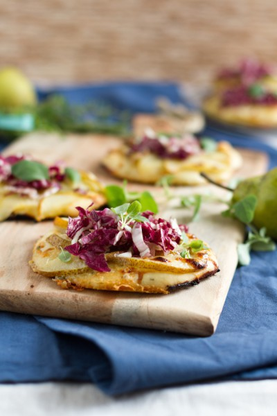 haseimglueck.de Rezept, Mini Pizza mit Birnen & Gorgonzola 3