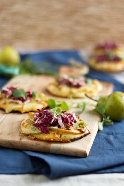 haseimglueck.de Rezept, Mini Pizza mit Birnen & Gorgonzola 6