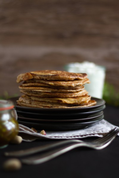 Vollkorn Pancakes Baklava I  Wholemeal Pancakes Baklava I haseimglueck.de