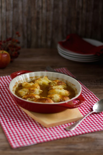 Apfel Dumplings in Honig Butter Sauce I Apple Dumblings with Honey Butter Sauce I haseimglueck.de