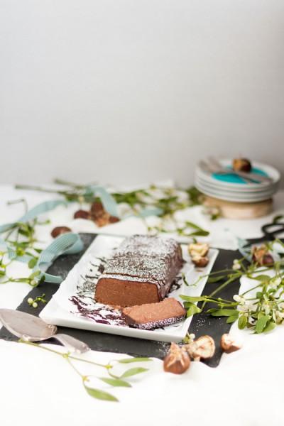 Maronen Trüffel Kuchen I Chestnut Truffle Cake I haseimglueck.de