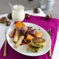 Maronen Bratling mit Ofengemüse I Chestnut Patty with oven-roasted Root Vegetables I haseimglueck.de