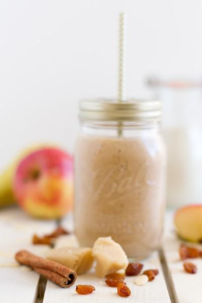 Smoothie Apfel, Birne, Marzipan, Zimt I Smoothie Apple, Pear, Marzipan, Cinnamon I haseimglueck.de