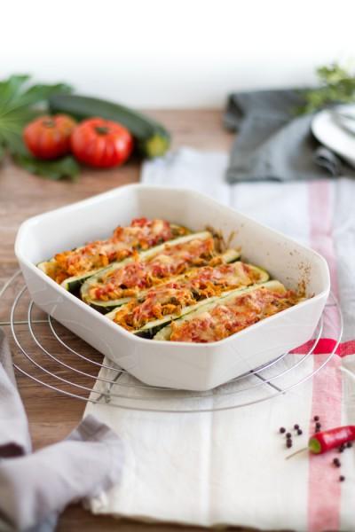 Gefüllte Zucchini mit Hähnchen Enchilada I Stuffed Zucchini with Chicken Enchilada I haseimglueck.de