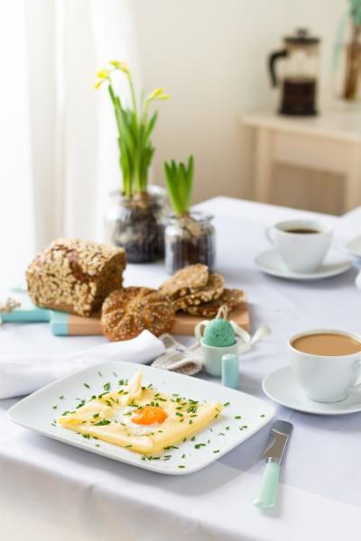 Das perfekte Spiegelei im Crêpe I The perfect Fried Egg in a Crêpe I haseimglueck.de