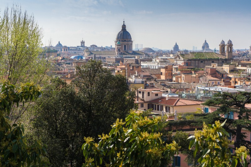 Rome City Trip - View from Villa Borghese gardens I haseimglueck.de