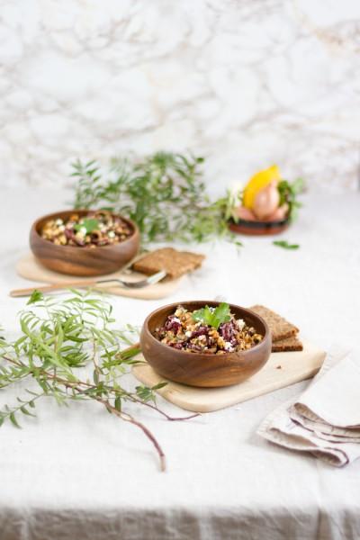 Kindeybohnen Salat mit Feta & Harissa Sauce I Salad with Kidney Beans, Feta & Harissa Sauce I haseimglueck.de