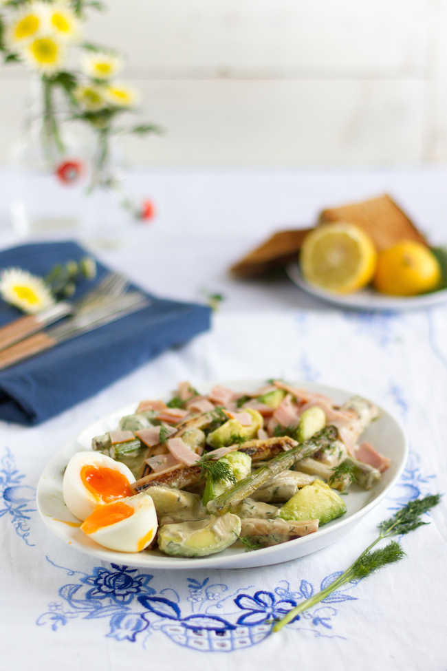 Spargel Avocado Salat : spargel avocado salat mit joghurt dill dressing hase im ~ Lizthompson.info Haus und Dekorationen