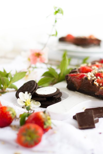 No Bake Schokoladen Erdbeer Tarte I No Bake Chocolate Strawberry Tarte I haseimglueck.de
