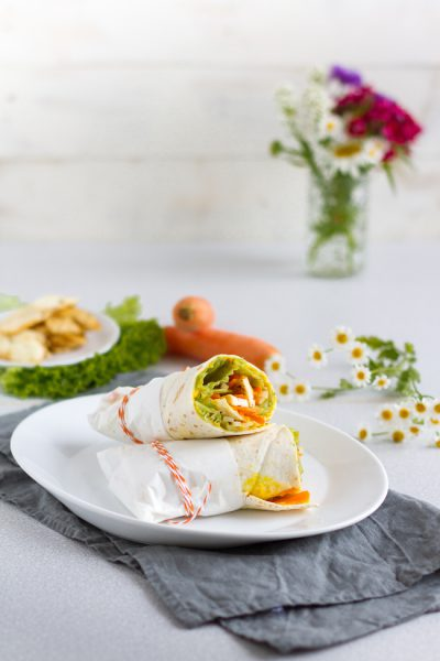 Vegerarische Wraps mit Karotten, Halloumi & Linse-Curry-Aufstrich I Vegetarian Wraps with Carrots, Halloumi & Lentil Curry Spread I haseimglueck.de