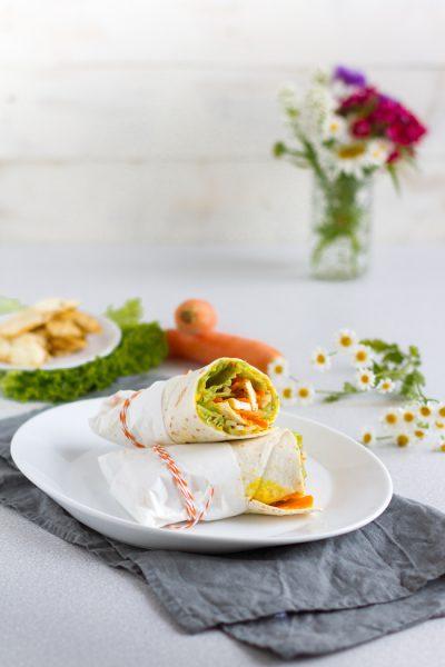 Vegerarische Wraps mit Karotten, Halloumi & Linse-Curry-Aufstrich I Vegetarian Wraps with Carrots, Halloumi & Lentil Curry Spread I haseimglueck.de