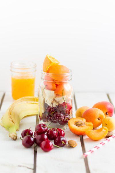 Smoothie Gefrorene Kirschen, Aprikosen & Orange I Smoothie Frozen Cherries, Apricots & Orange