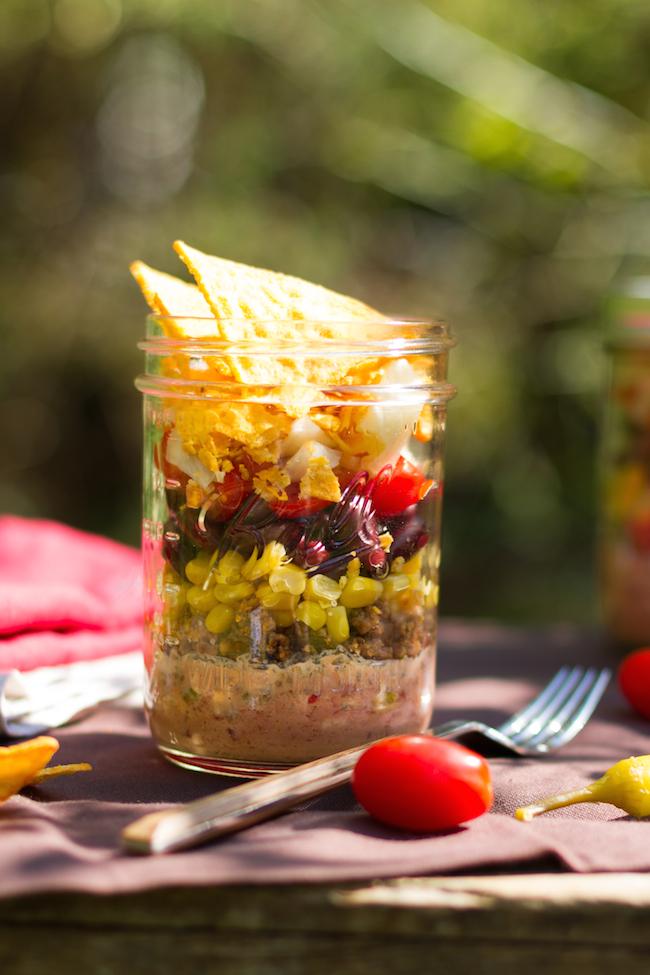 Mexikanischer Nacho Salat Im Glas Hase Im Gluck
