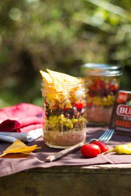 Mexikanischer Taco Salat im Glas I Mexican Taco Salat in a Jar