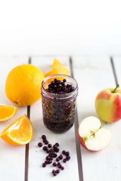 Smoothie Waldheidelbeeren, Apfel & Orangen I Smoothie Wild Blueberries, Apple, Oranges