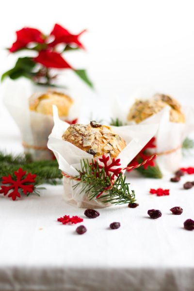 Mini Panettone mit Schokolade & Cranberries I Mini Panettone with Chocolate & Cranberries