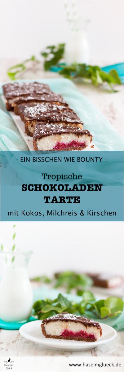 Schokoladen Tarte mit Kokos Milchreis & Kirschen I Chocolate Tarte with Coconut Milkrice & Cherries