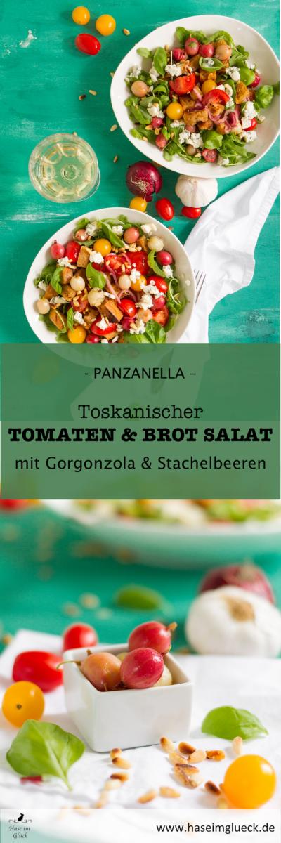 Italienischer Brotsalat mit Tomaten, Stachelbeeren & Gorgonzola I Italian Bread and Tomato Salad with Gooseberries & Gorgonzola I Panzanella