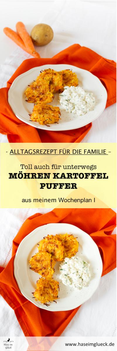 Möhren Kartoffel Puffer I Carrot Potato Pancakes