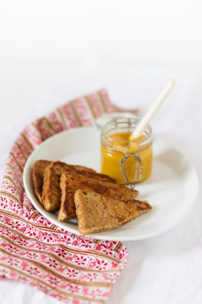 French Toast mit Apfel Mango Mus I French Toast with Apple Mango Sauce