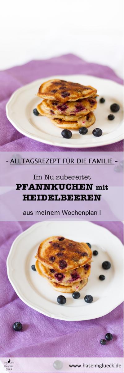 Heidelbeer Pfannkuchen I Blueberry Pancake
